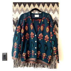 Garnet Hill Hand Knit CardiganSweater Medium Large